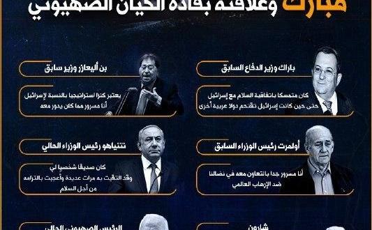 مبارك والكيان الصهيوني